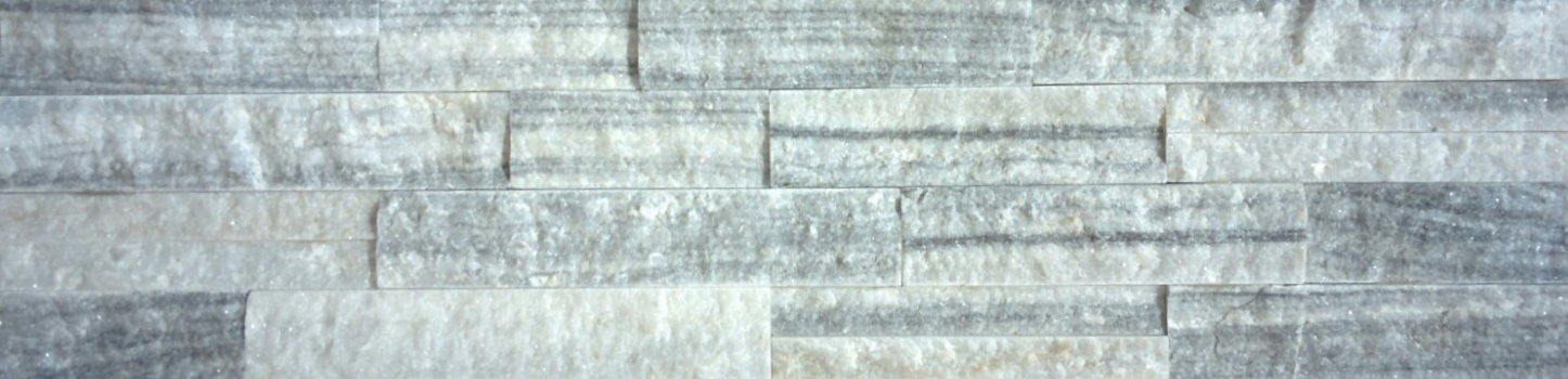 White Wood Vein Splitface Ledgestone