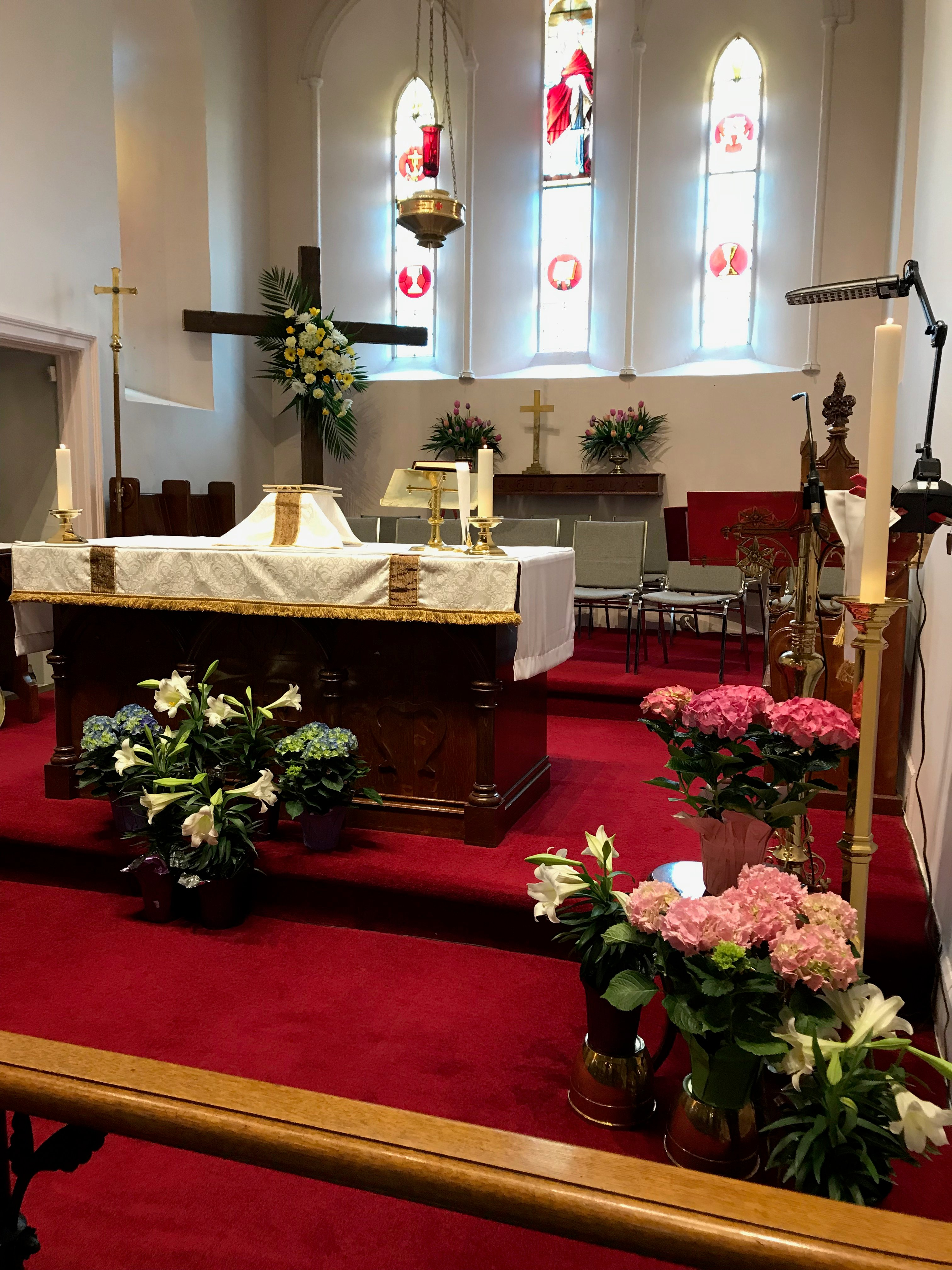 St George's altar at Easter