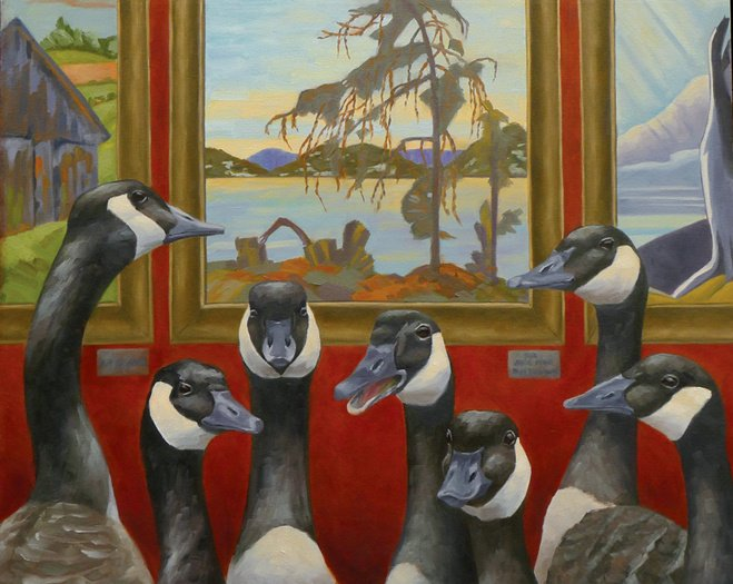 "A Group of Seven 24"" x 30"" / sold oil on canvas"