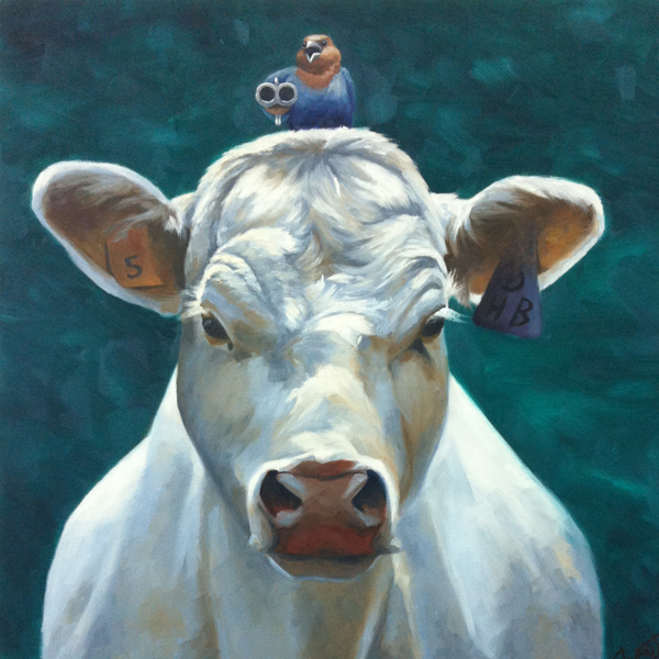 "Back Away from my BFF 24"" x 24"" oil on canvas RHGA Best in Show SOYRA People's Choice"