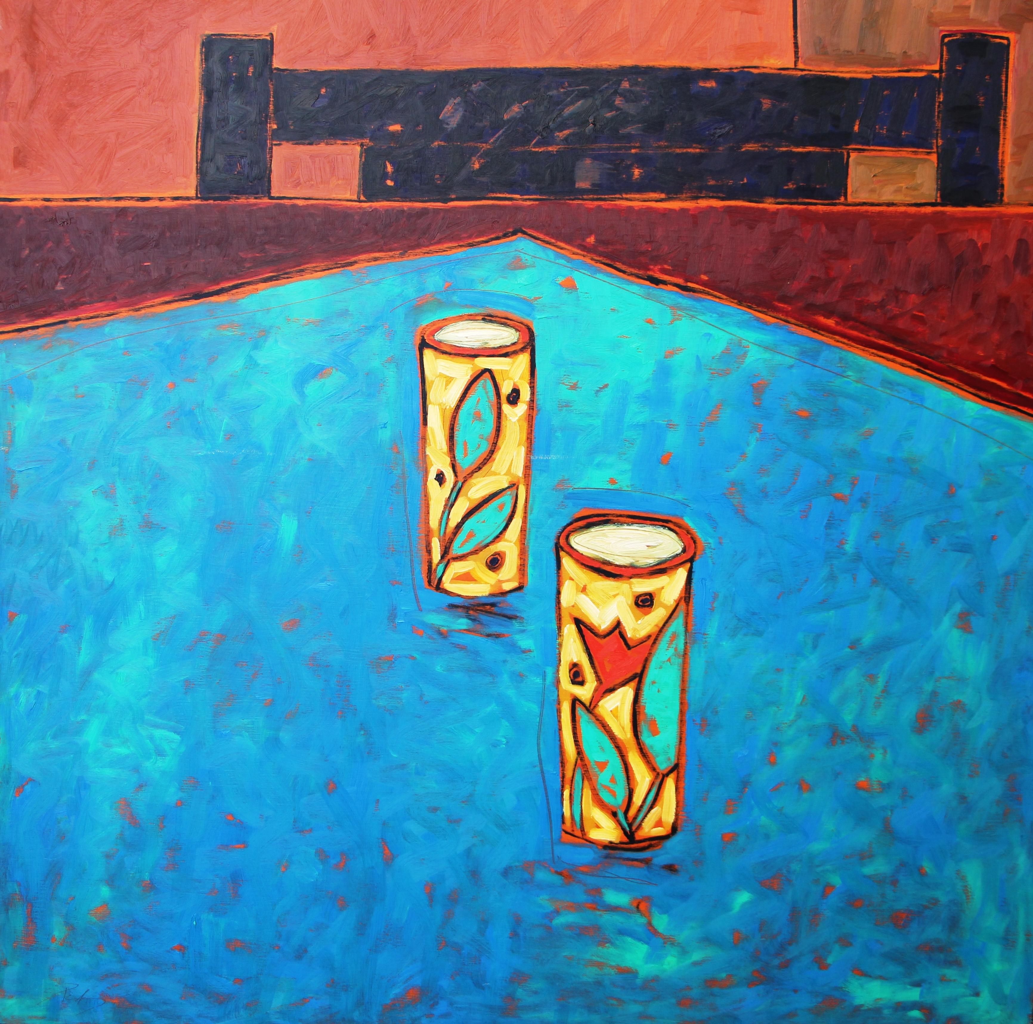 Gerald Pedros, Landscape of Home #17, oil on board , 1992