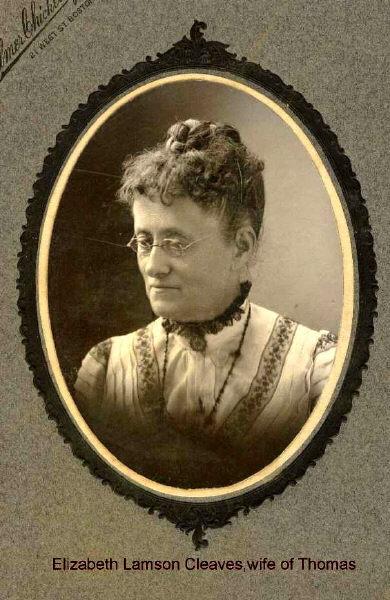 Elizabeth Lamson Cleaves (wife of Thomas)
