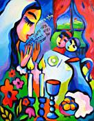 Shabbat Shalom, original Jewish fine art by artist Martina Shapiro