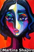 Woman On Red original abstract painting