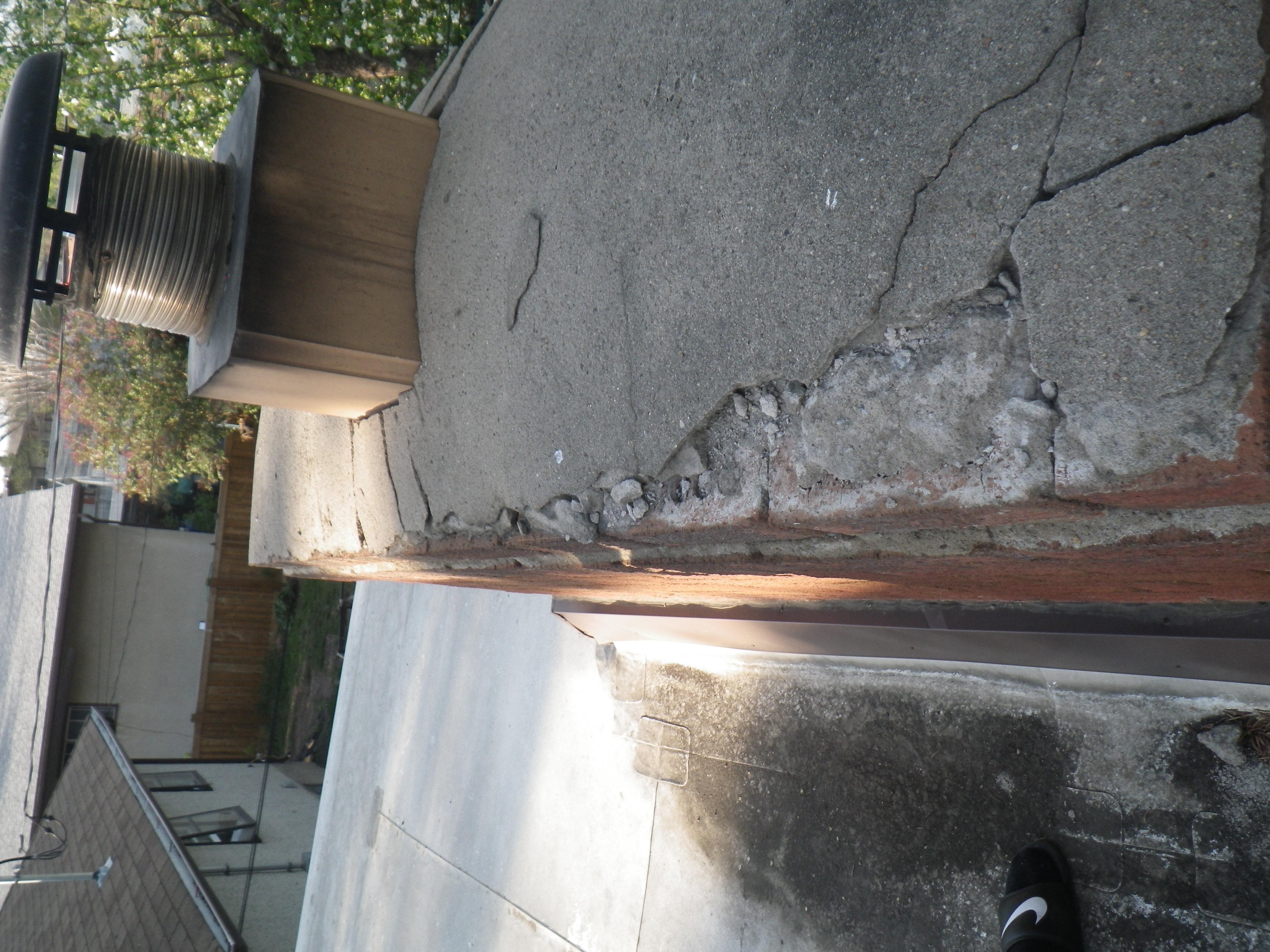 Cracked Chimney Cap