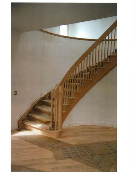 Circular  oak stair