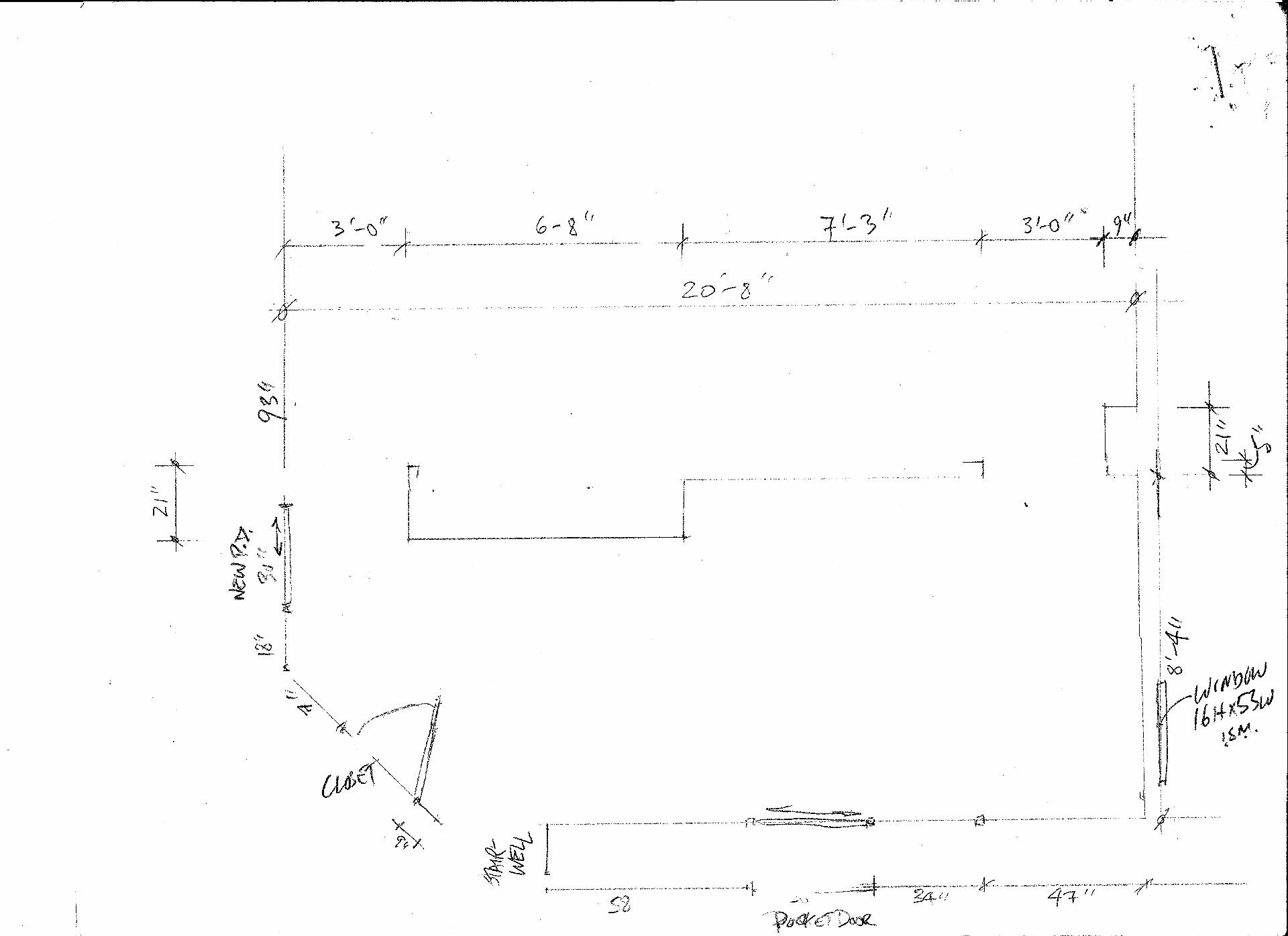 Basement millwork plan