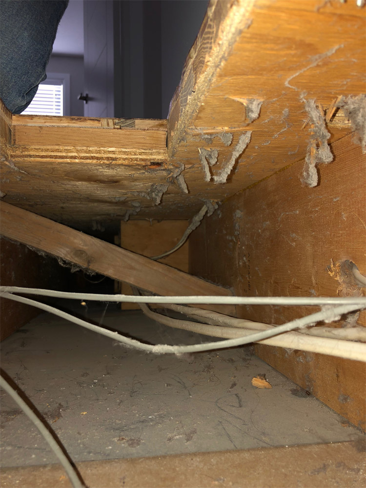 Wiring in cold air ducts is a shortcut for home builders