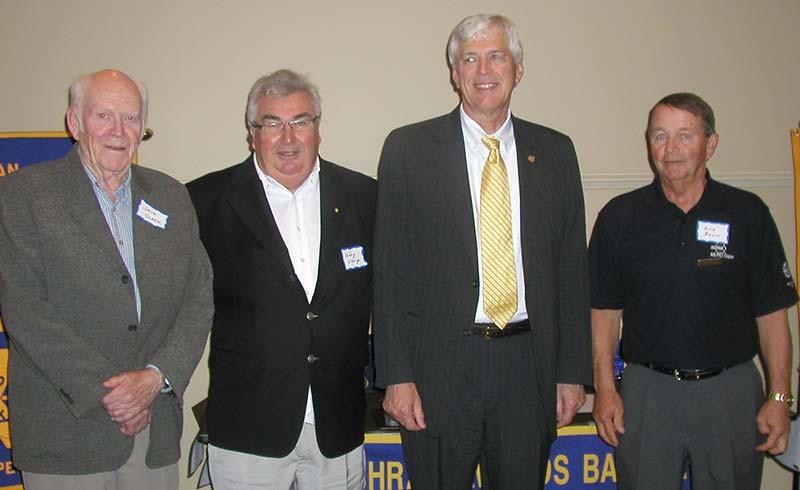 ASHRAE NB/PEI Charter Members with ASHRAE President: L-R: Jack Clark, Gary Clancy, Tom Watson, Kirk Bavis