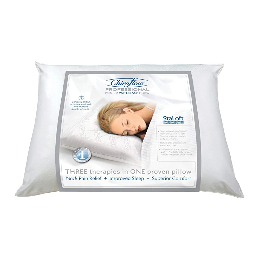 Chiroflow Professional Waterbased Pillow- The Water Pillow is the only clinically proven pillow for improved quality of sleep and reduction of neck pain.  The Water Pillow provides ultimate comfort and the highest quality of sleep.