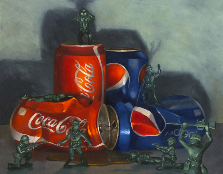 "Cola Wars 22"" x 28"" / sold oil on canvas"