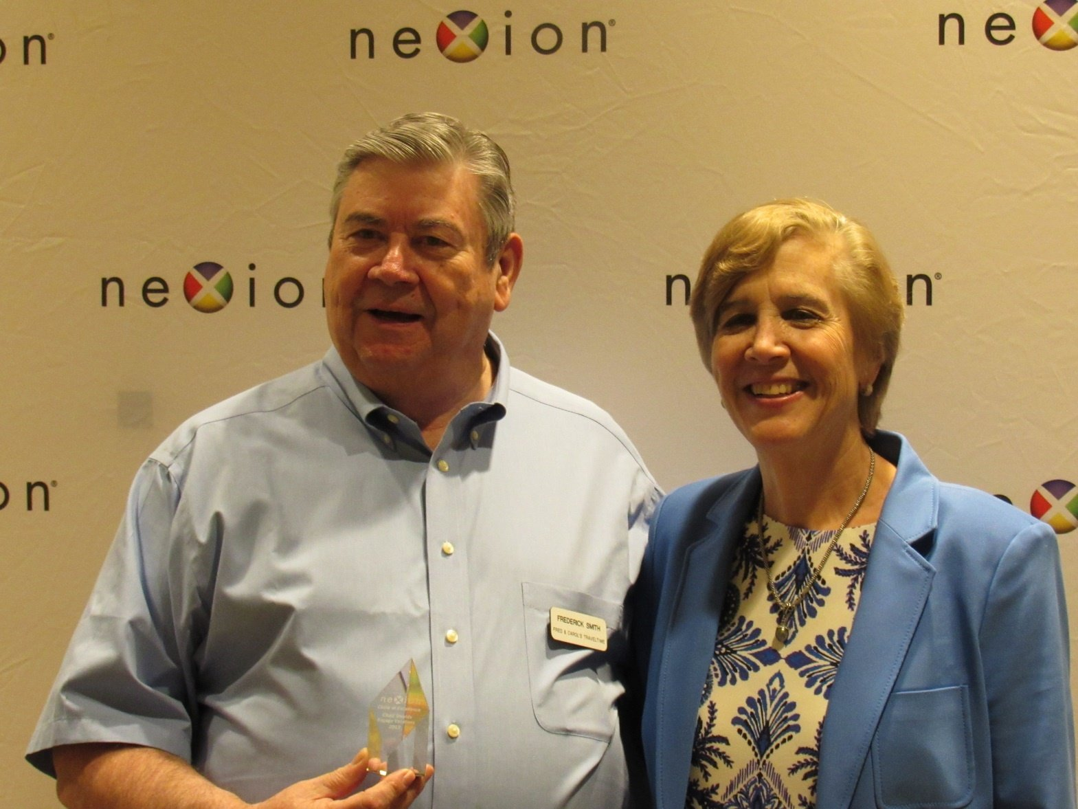 Picture shows Fred Smith, Circle of Excellence Award, and Nexion President, Jackie Friedman