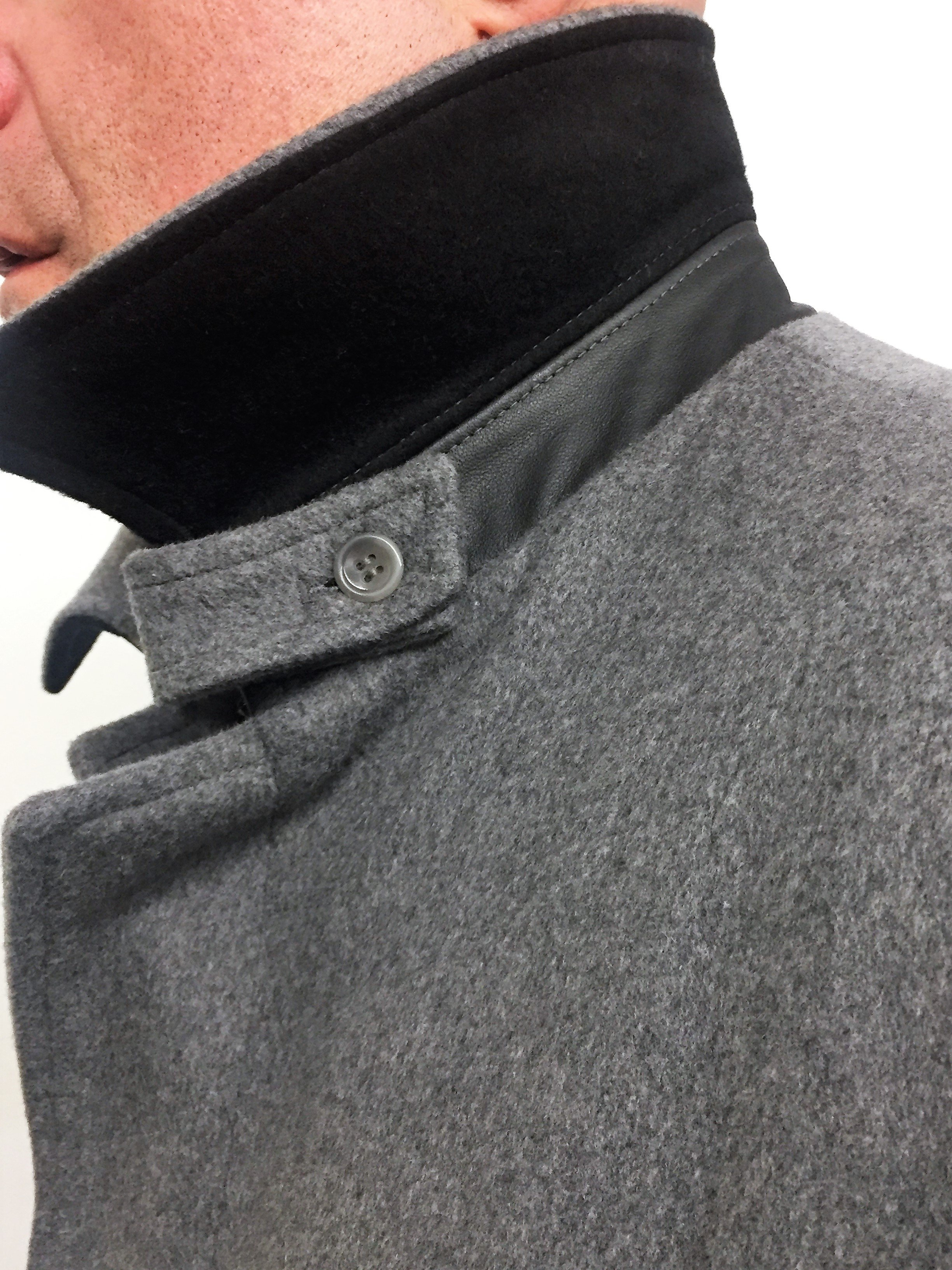 Style #M20189 Heather Grey  50% Cashmere & Wool (Neck)