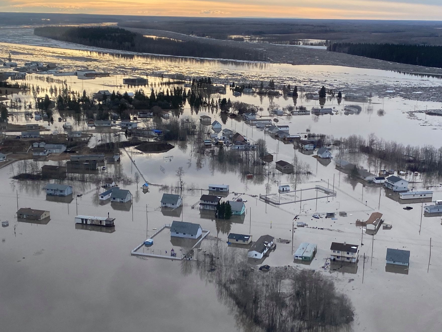Boreal housing flooded in 2020