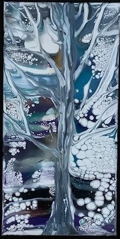 Winter Song 7.5 x 13.5 framed $195.00