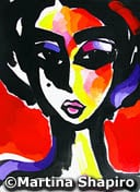 Red and Purple Girl original contemporary fine art