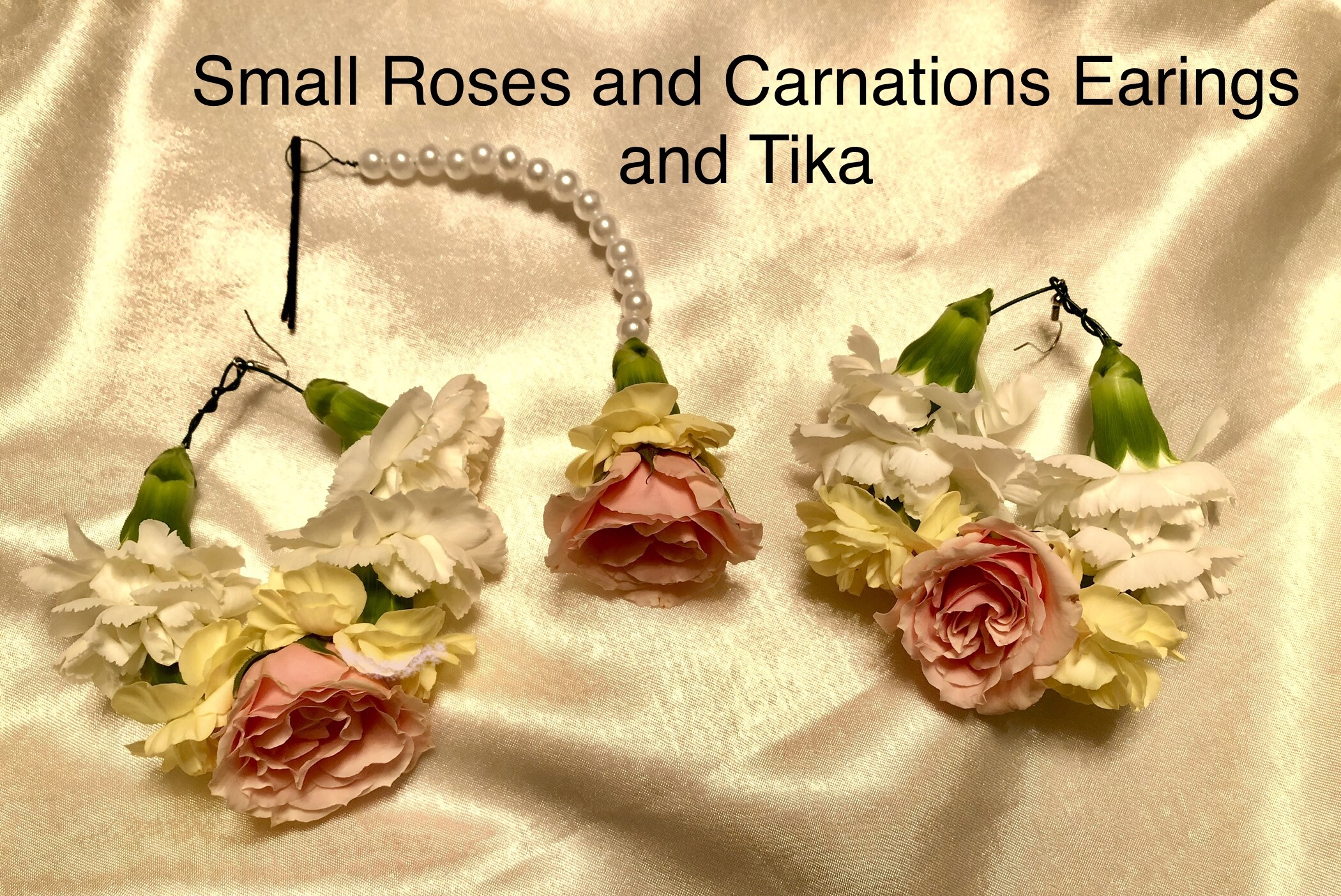 Small Roses and Carnations Earings and Tika