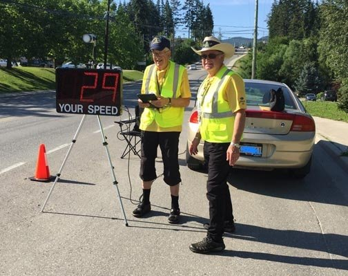 Conducting a Speed Watch in a School Slow Down Zone