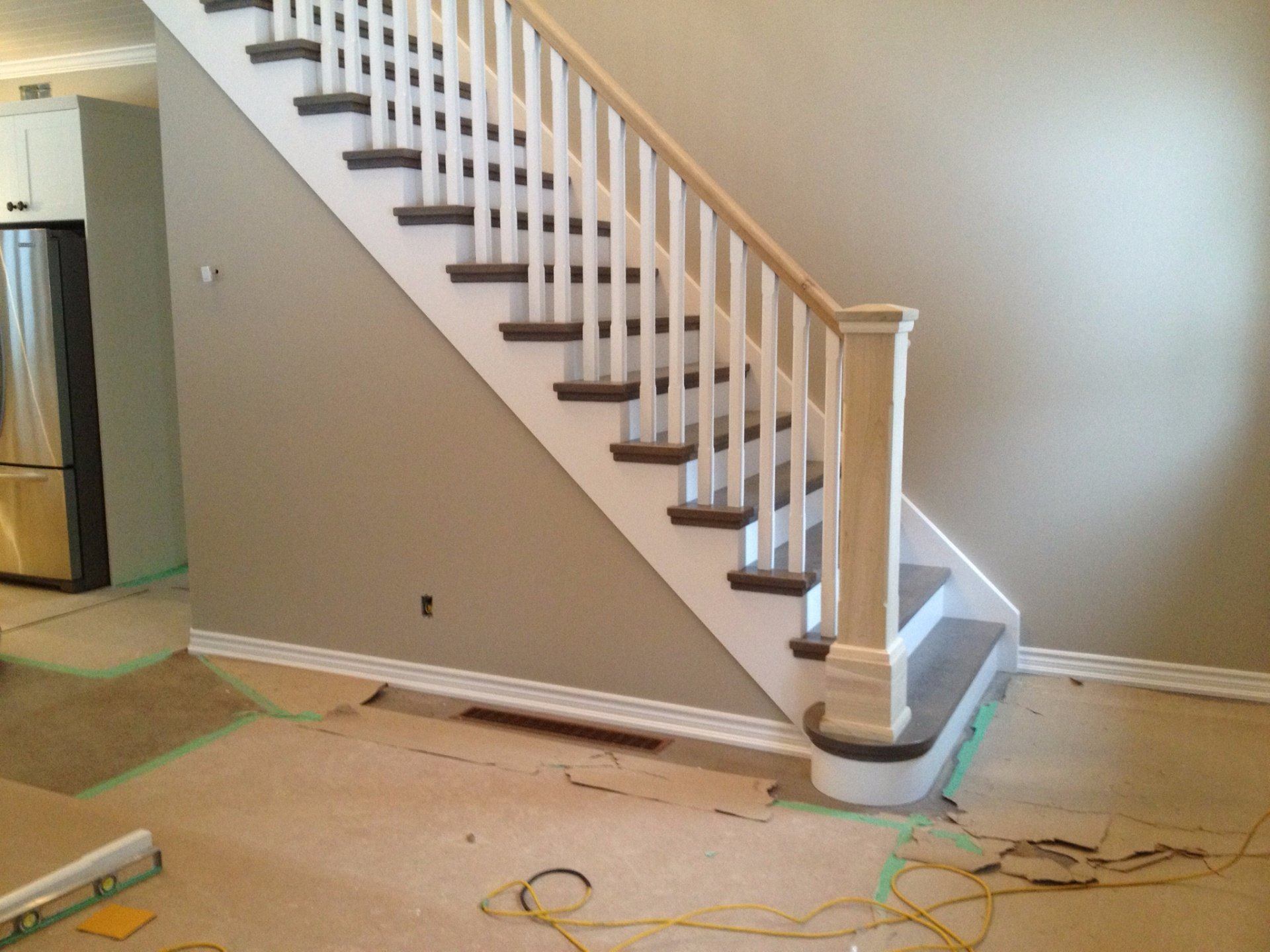 straight stair oak treads