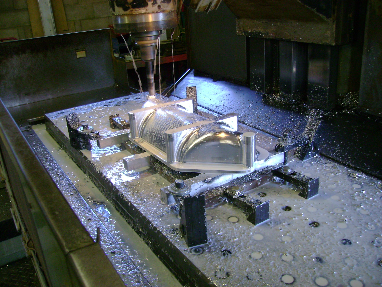 Machining Billet Aluminum Fender Mold