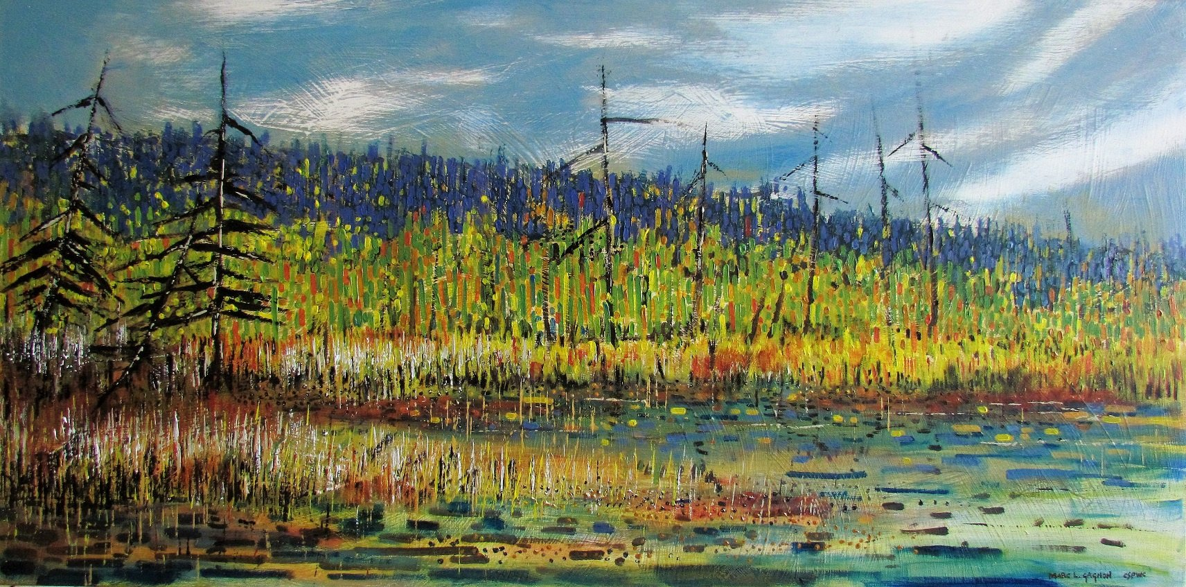 A Stillness in the Marsh Acrylic