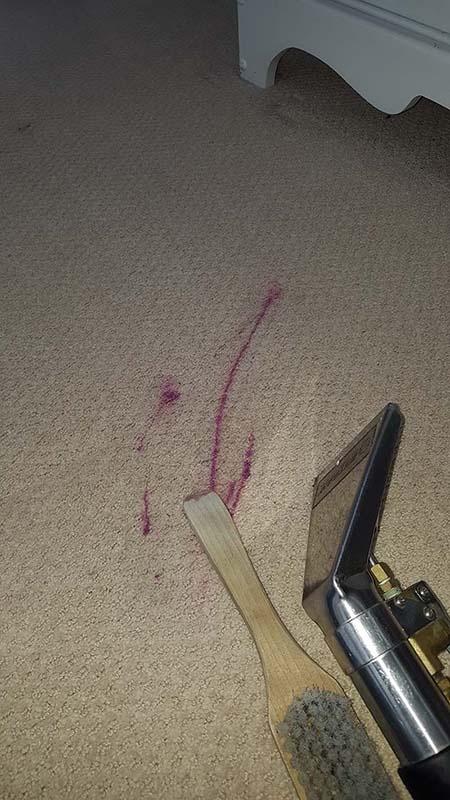 An awful nail polish stain