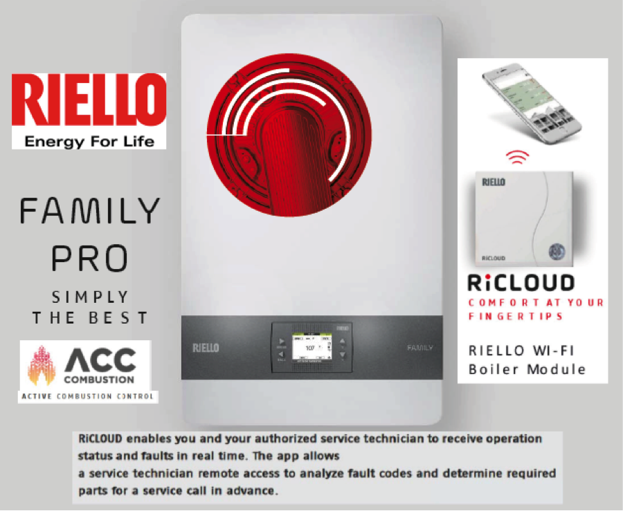 NEW! Riello Family Wall Hung Condensing Boiler & WIFI Boiler Module