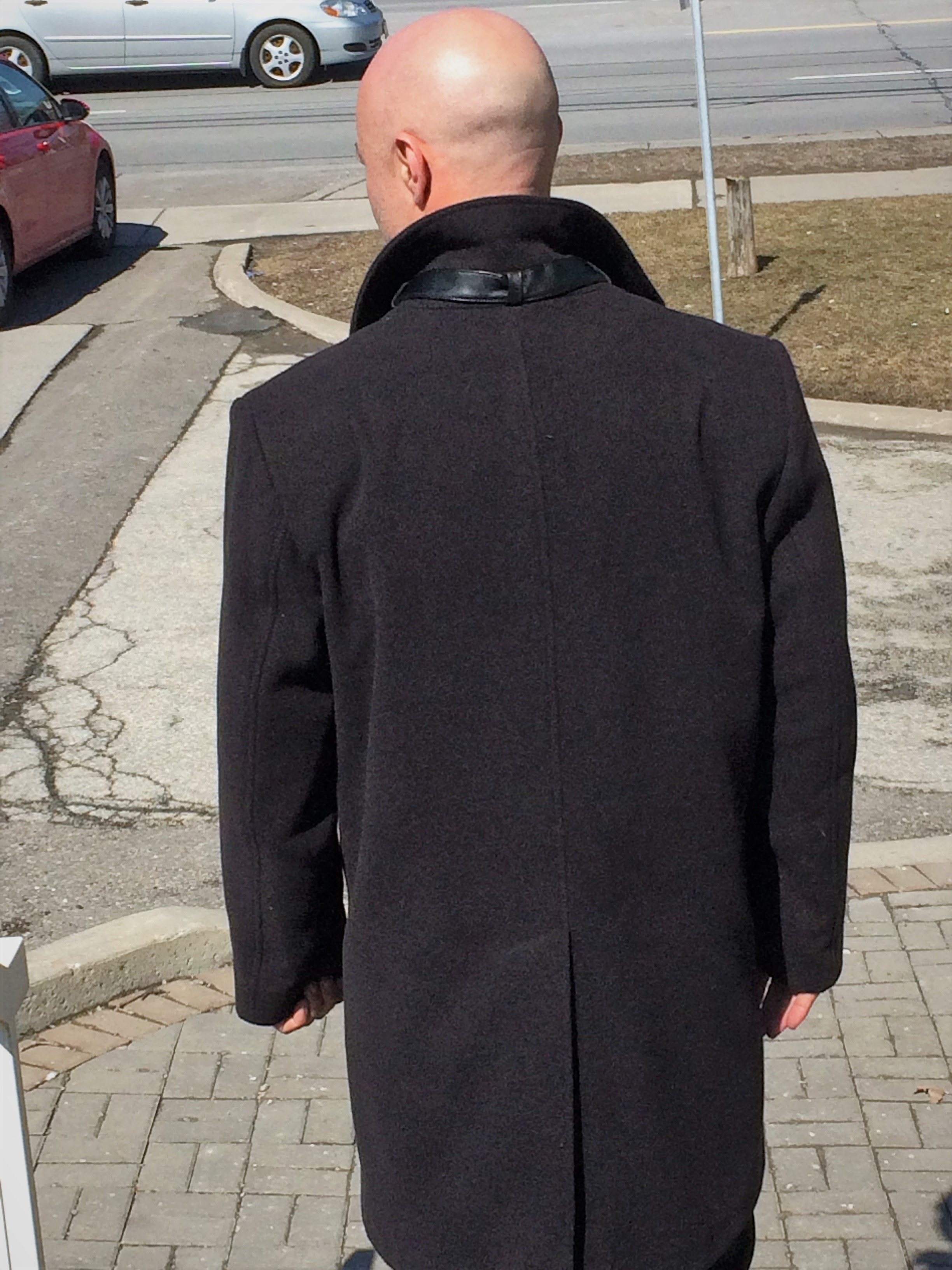 Style #M500-7 Black Cashmere & Wool Blend (Back View)