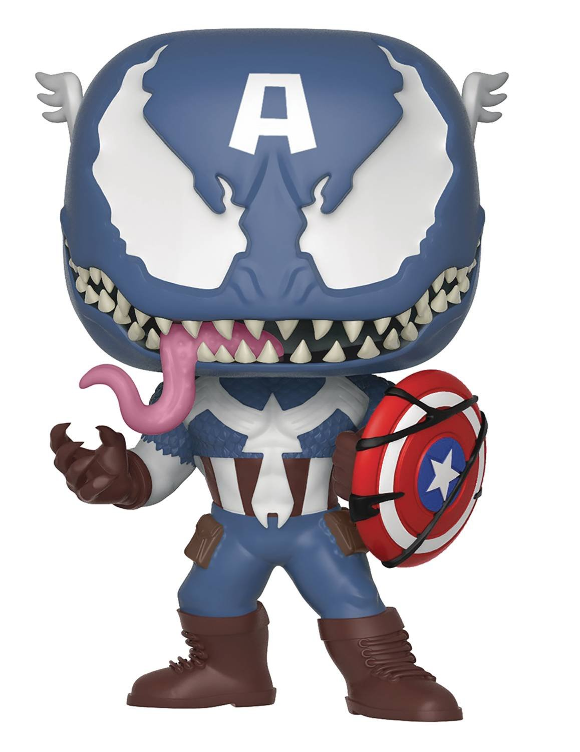 POP MARVEL VENOMIZED CAPTAIN AMERICA VINYL FIG