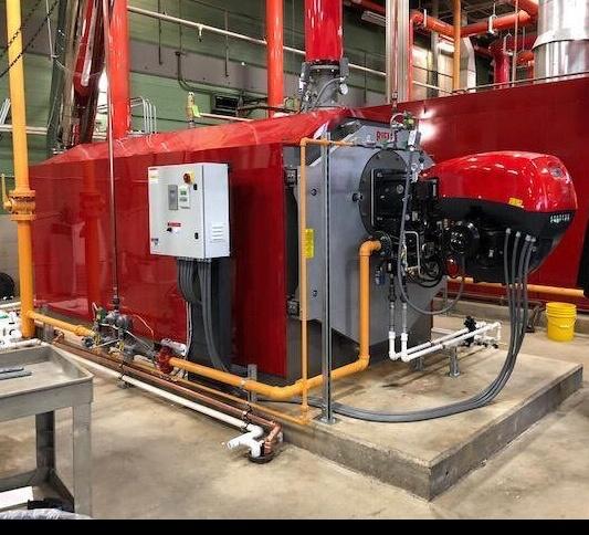 RIELLO RTC-10000, 10.0Mbh Condensing Boiler & Dual Fuel Riello Burner