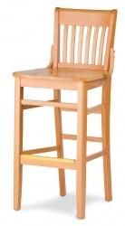 Staveback Barstool, wood seat
