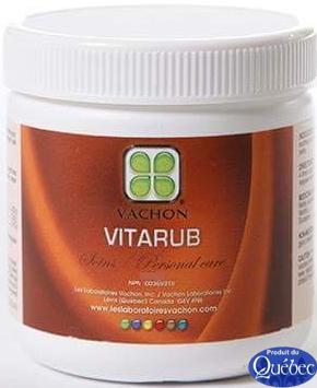 Crème analgésique VITARUB 60 g Douleurs musculaires 8.70$ plus taxes