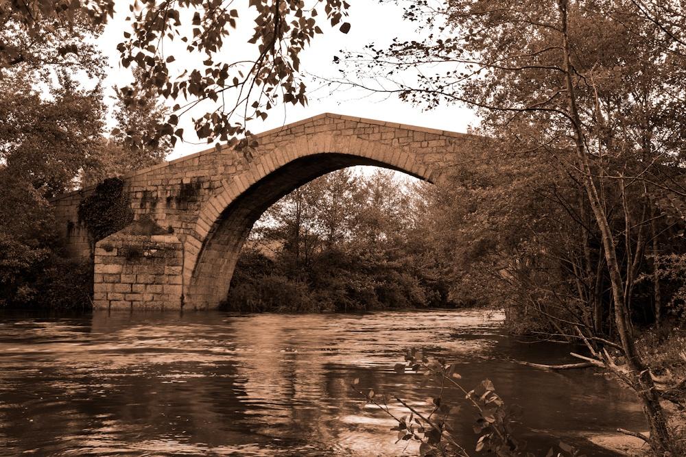 Pont Spin'a Cavallu  construit par les  génois au XIIIe siècle  Sud de la Corse  Avril 2010