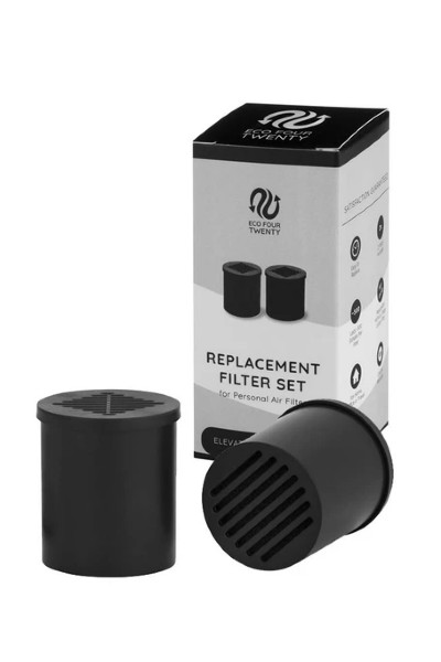 Eco Four Twenty Personal Air Filter - Official Replacement Filters (2 Refills in 1 Box)
