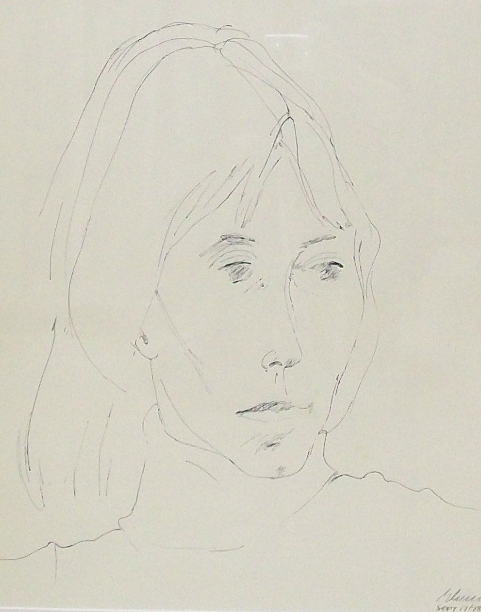 Greg Curnoe, Shelia, lithography on paper, September 1978, 30x24""