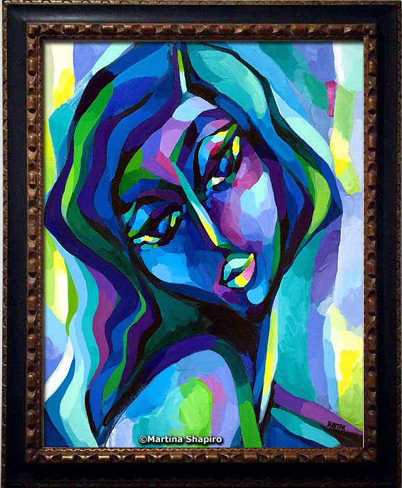 example of how the painting can look in a frame