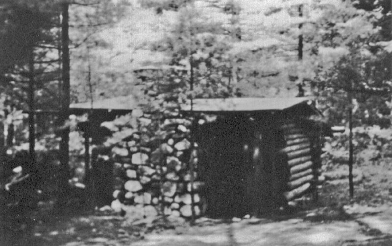 "Pop built a shed to store fire wood. Grandmother (CWCS) used to sit in it while he worked, then convinced him that it would make a nice master bedroom for the two of them. She called it the Shelter. Later, she convinced him to build her a bath and dressing room next to the Shelter and called it her ""Lavajoy""."