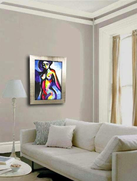 example of the painting in a room