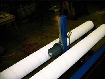 """33"""" Surface Winder End winder guide posts - adjustable for roll length."""