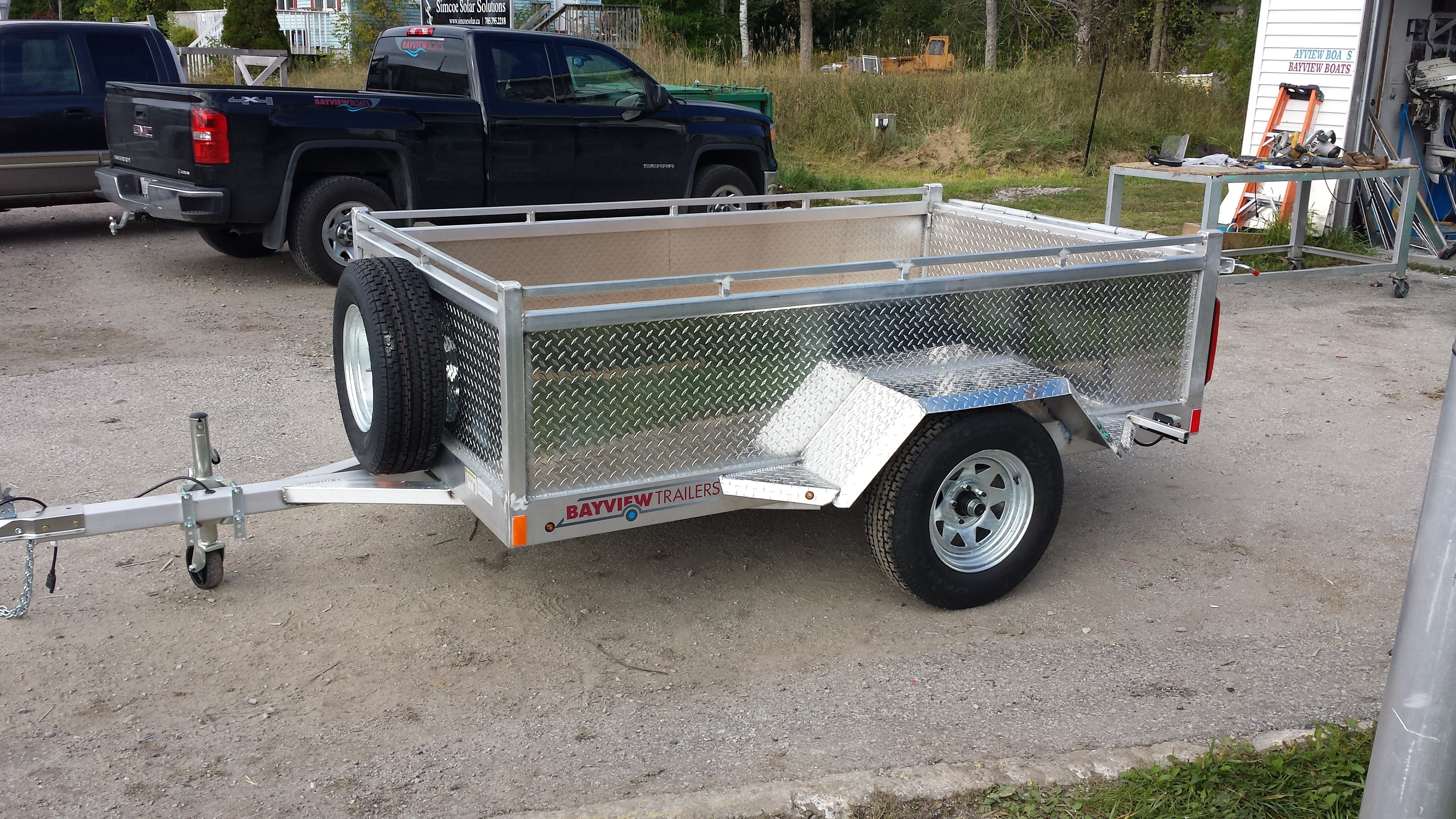 """4 x 8 aluminum trailer with 20"""" sides"""