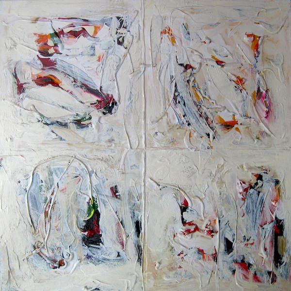 "Ross Bishop ""Four Paintings""   2019  A/C  24""x24""  Available at Thielsen Gallery - London"