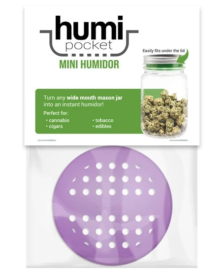 The humi pocket is a silicone insert that fits any brand or size of wide mouth mason jar to create a DIY humidor!
