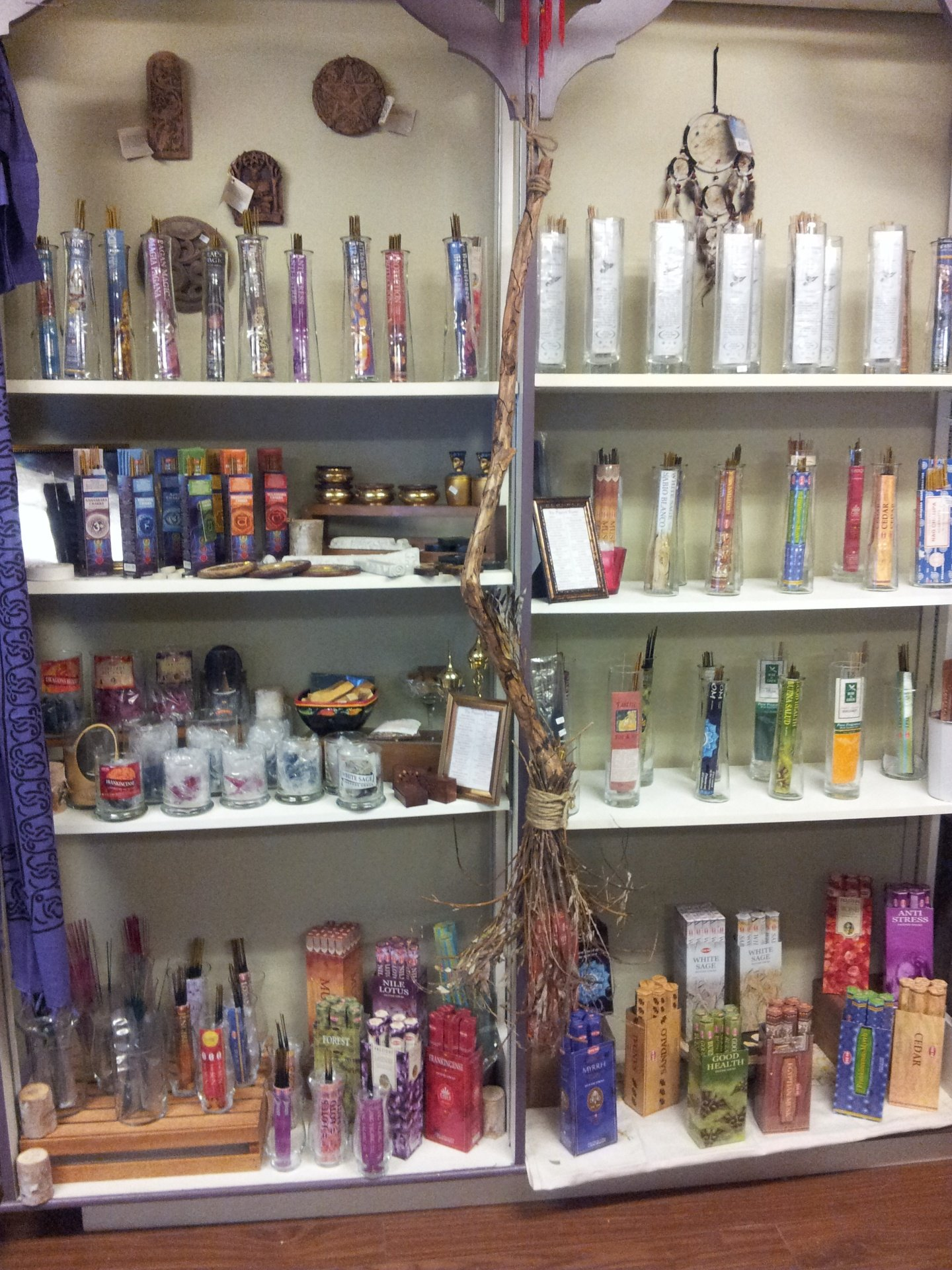 Incense, Besom Broomsticks, Tapestry, Wall Plaques, Curtains, Sarongs