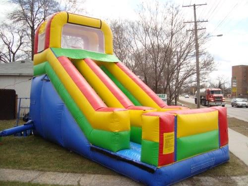 16 Ft. Single Lane Backyard Slide  3 Hr. Rental is $300.00 plus Taxes $339.00 Total Extra Hr. $100.00 plus taxes