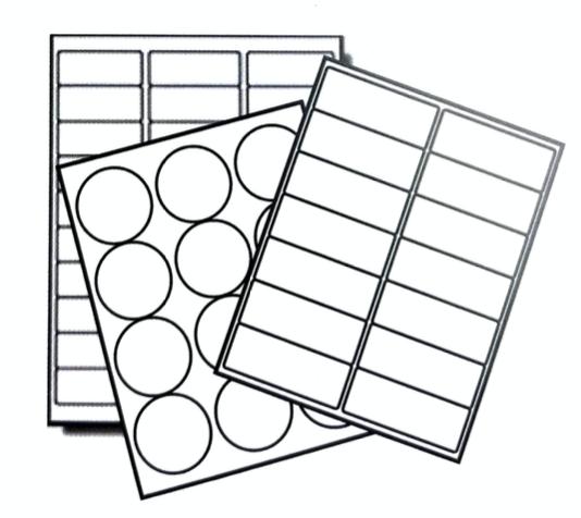 laser and inkjet printer labels