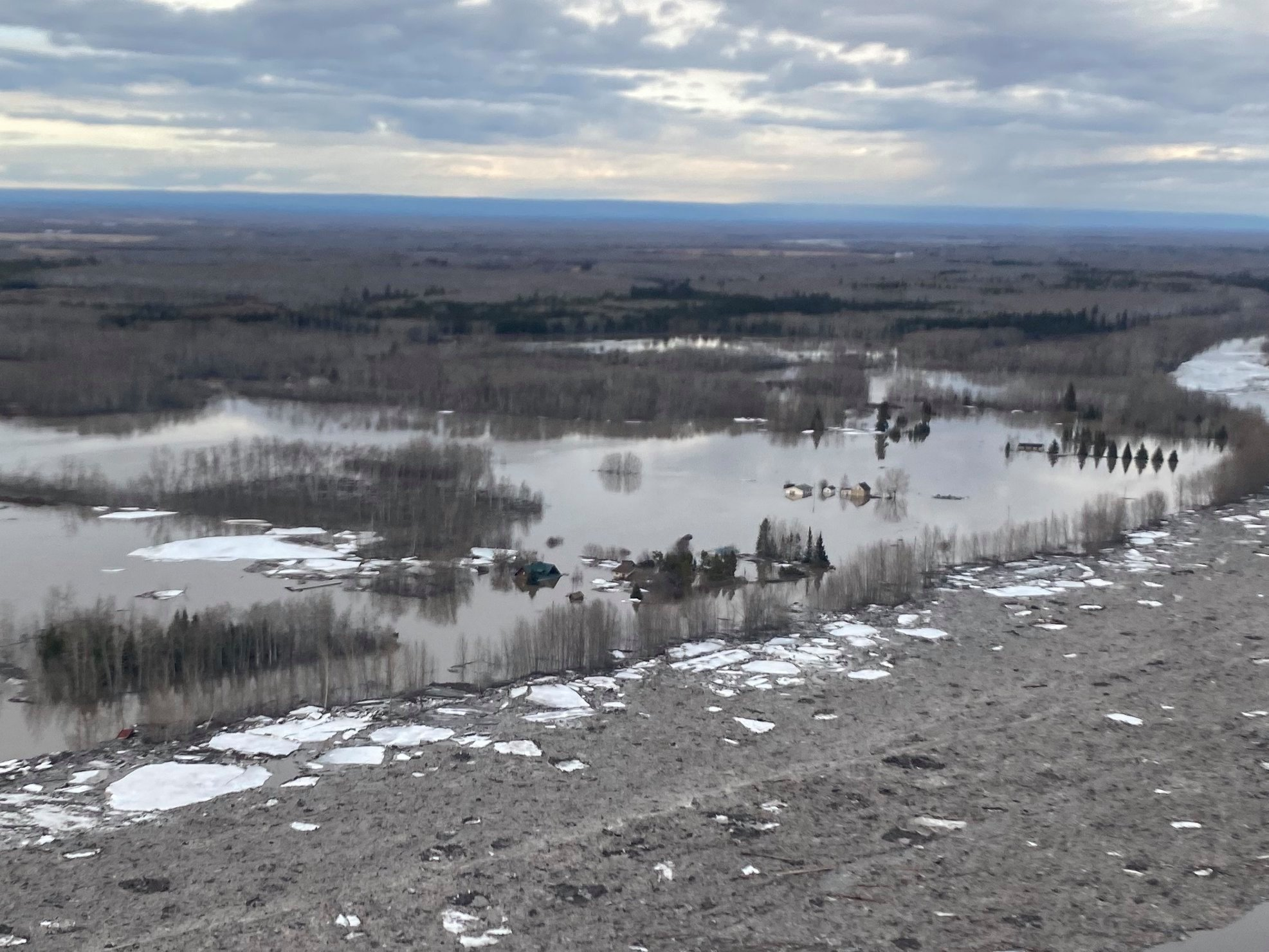 Buttertown flooded in Spring of 2020. Photo Credit: Jake Fehr