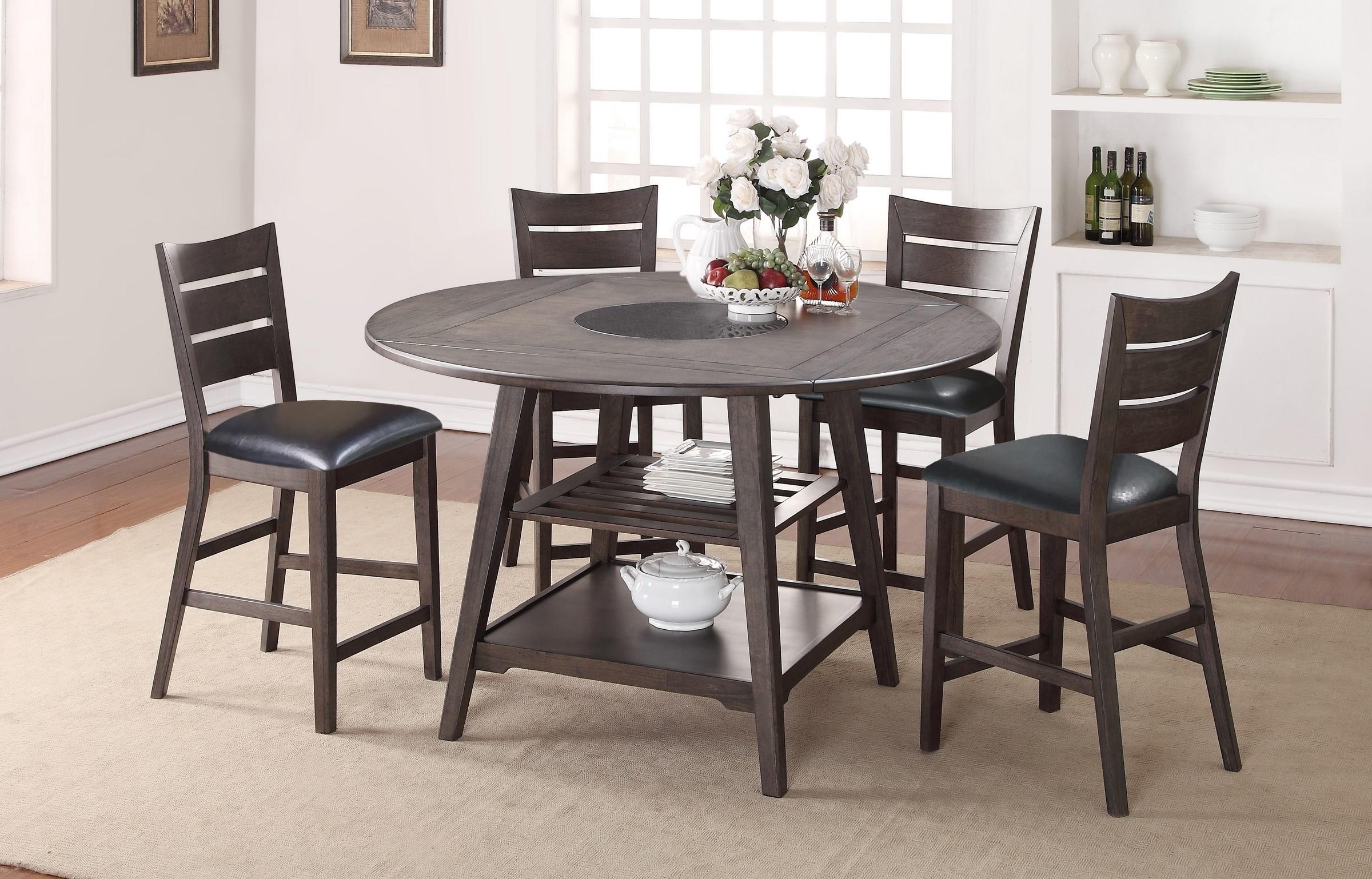 Ensemble Bistro Table et 4 chaises 42'' x 42'' ou 59.5'' rond Pateau central pivotant