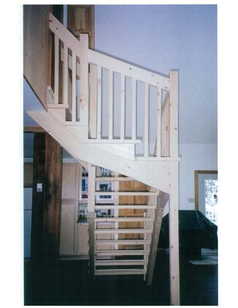 Winder pine Scandinavian style stair