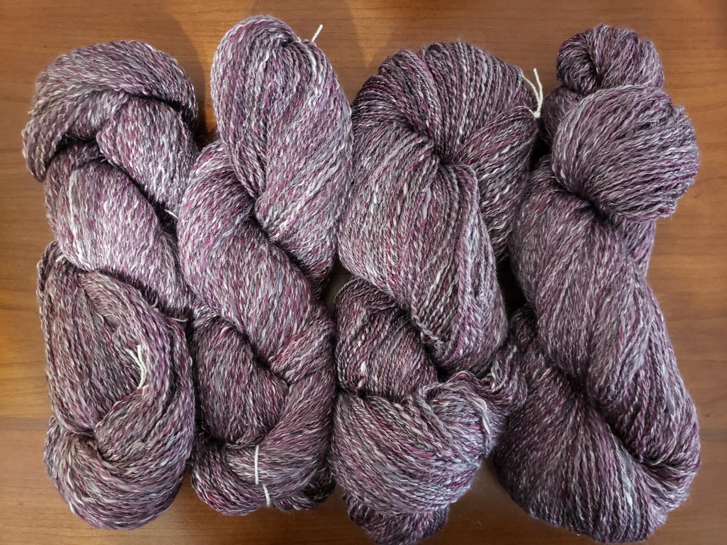 Birthe - Ashford Storm merino/silk handspun yarn.
