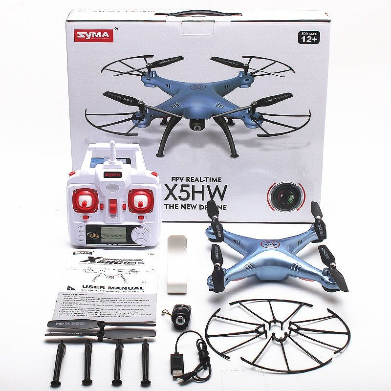 Quadcopter Drone with WiFi Camera - Syma X5HW (SUGGESTED RETAIL PRICE: $117.99 - $159) Your Ptice $59.00